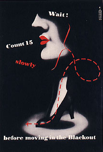 An Image of a Poster Reminding People to Count and Wait before Moving in the Blackout