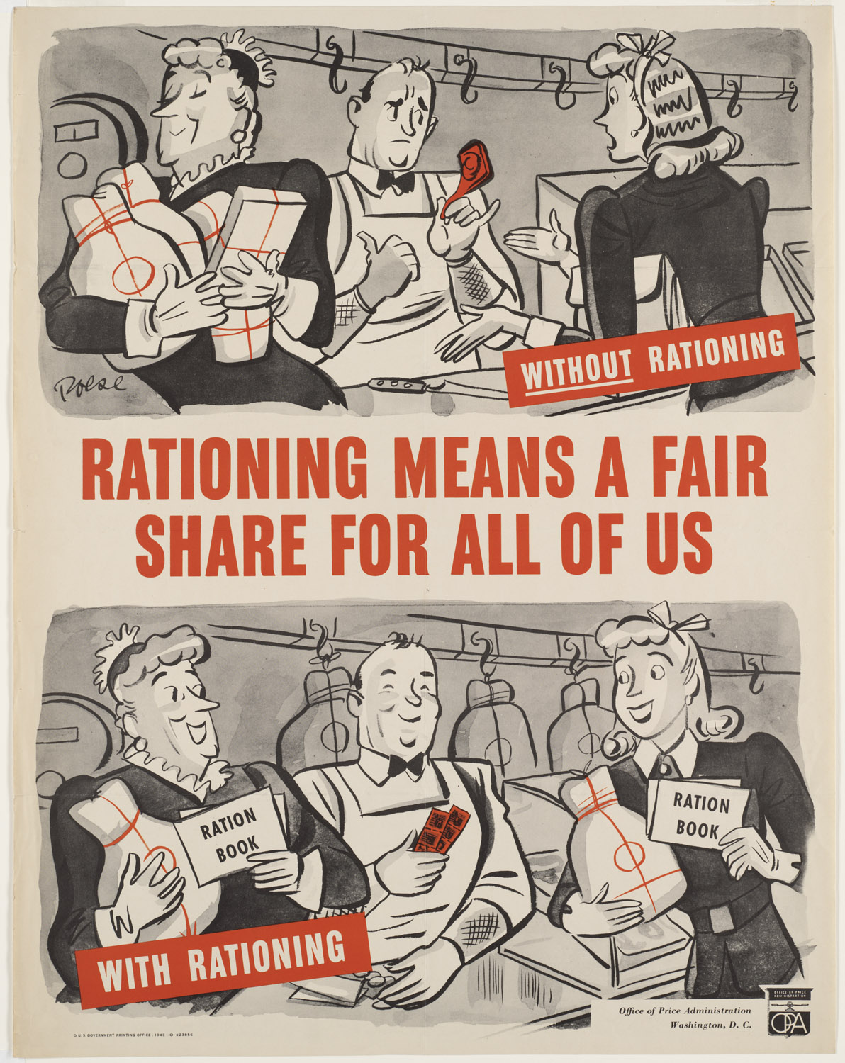 An Image of a Poster Reading 'Rationing Means a Fair Share for all of us'