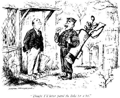 An Image of a Cartoon Showing a Comical View of the Home Guard's Patrol (Norman Mansbridge)