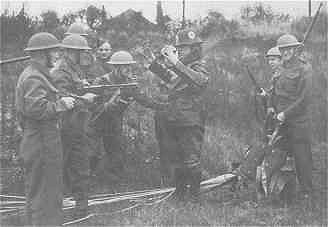 An Image Showing the 'Capturing the Invader' Home Guard Exercise