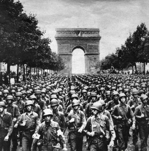 An Image of the French Troops in Paris